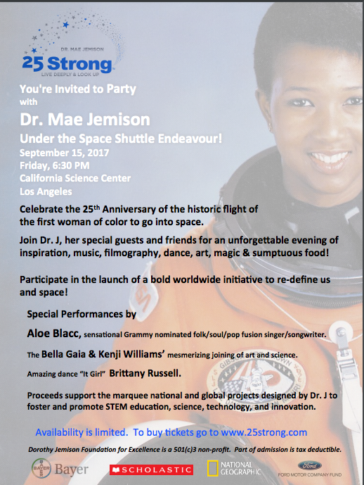 Dr. Mae Jemison's 25th Celebration